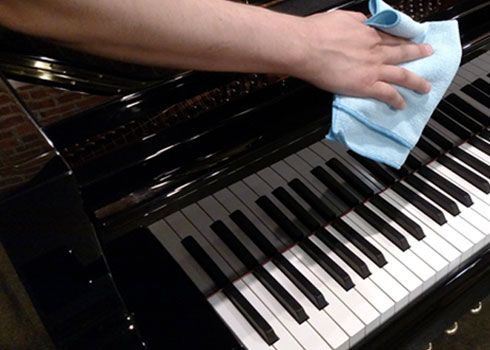 Image result for cleaning piano